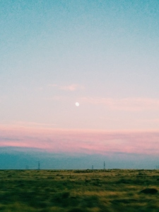 Moonrise Near Pendleton